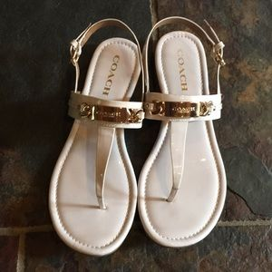 Coach sandals. Off white. Worn once.